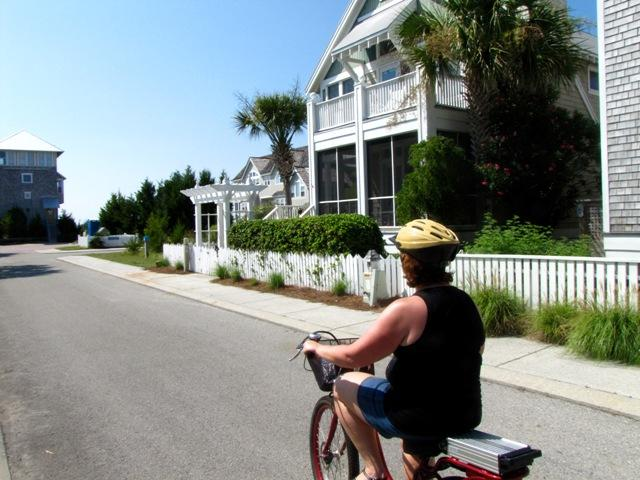 On bikes, you have more time to appreciate the homes and natural beauty of the island.