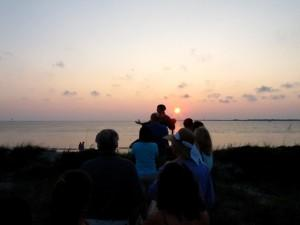 The Ghost Walk gets spookier as the sun sets over the Cape Fear River.