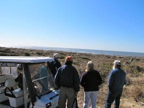 The foundation of Bald Head Island lies in the sand, water and plants nearby.
