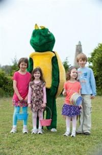 Captain Charlie the Easter Turtle Visits Bald Head Island