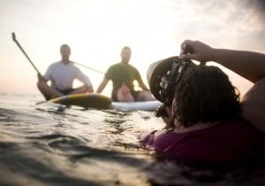 Behind the Scenes Standup Paddleboarding Photo Shoot on Bald Head Island