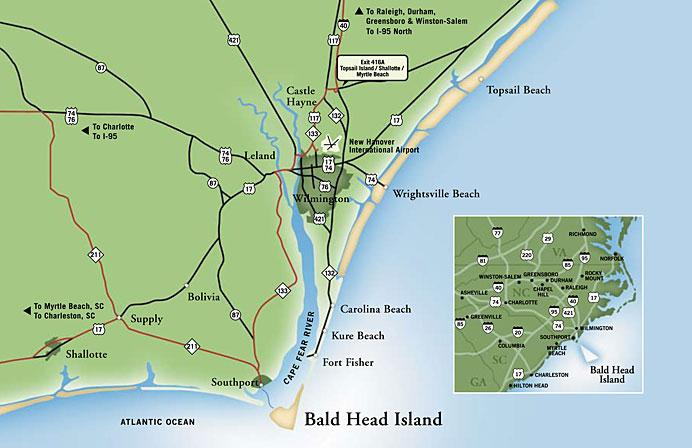 Directions to Bald Head Island