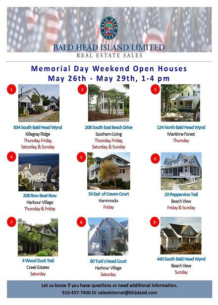 Real Estate Sales Memorial Day Open Houses